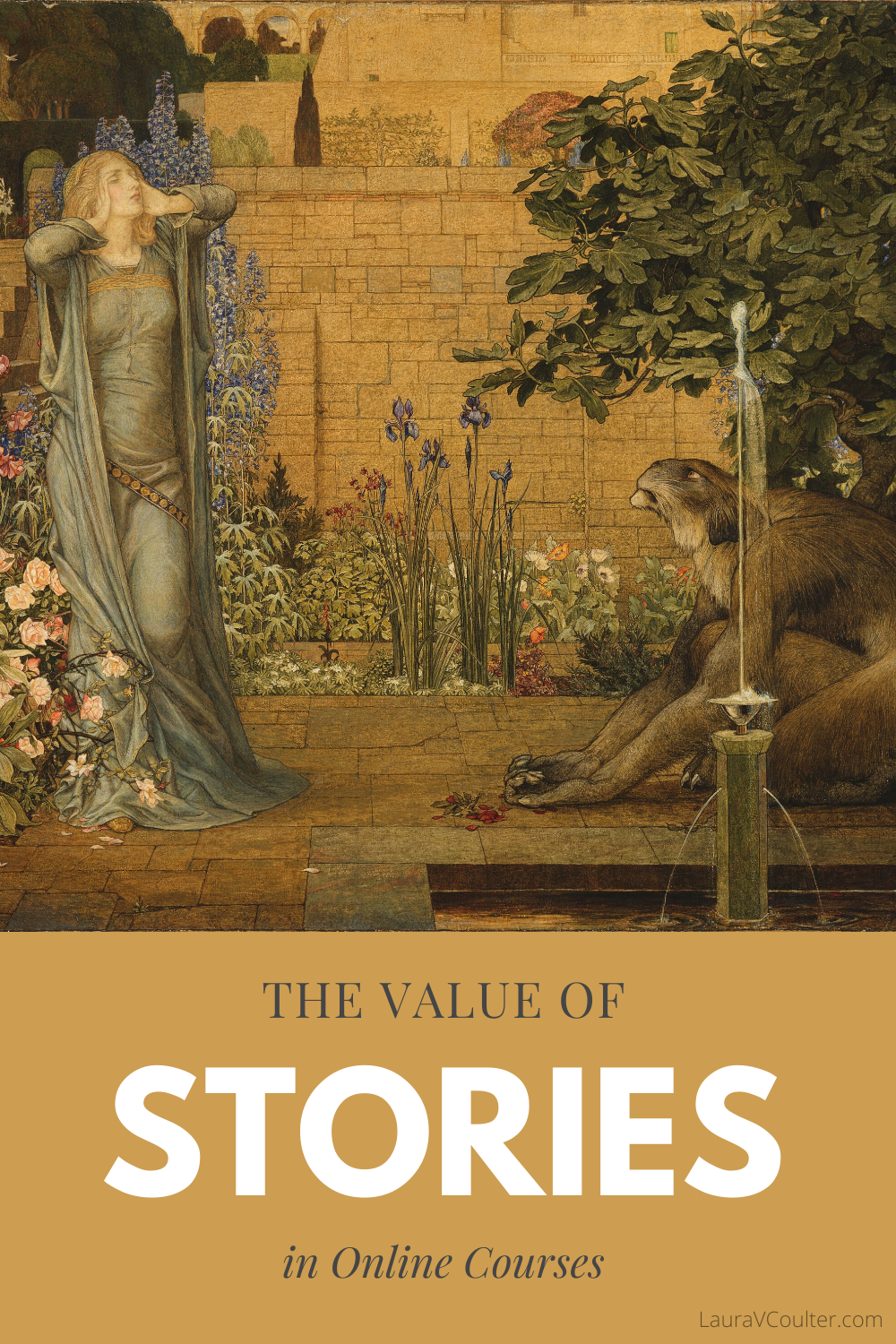 The value of stories in online courses lies in a story's ability to engage and connect learners.