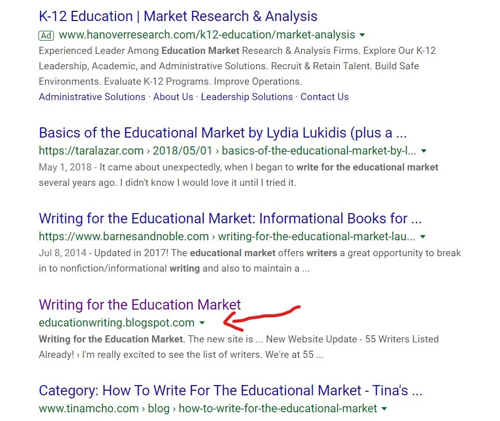 Google search page 2