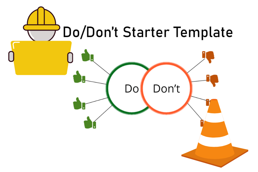 Storyline Challenge 303 image. A Dos and Don'ts list under contruction