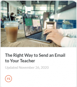 Course cover card - The Right Way to Send and Email to Your Teacher