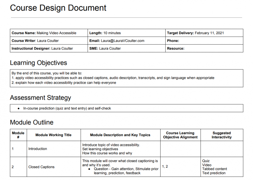 Design Document Video Accessibility image