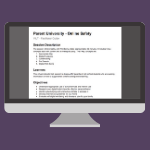 Facilitator Guide for a parent university on online safety and well-being